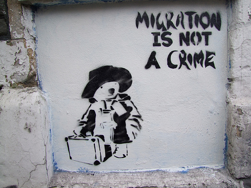 Migration is not a crime, Banksy