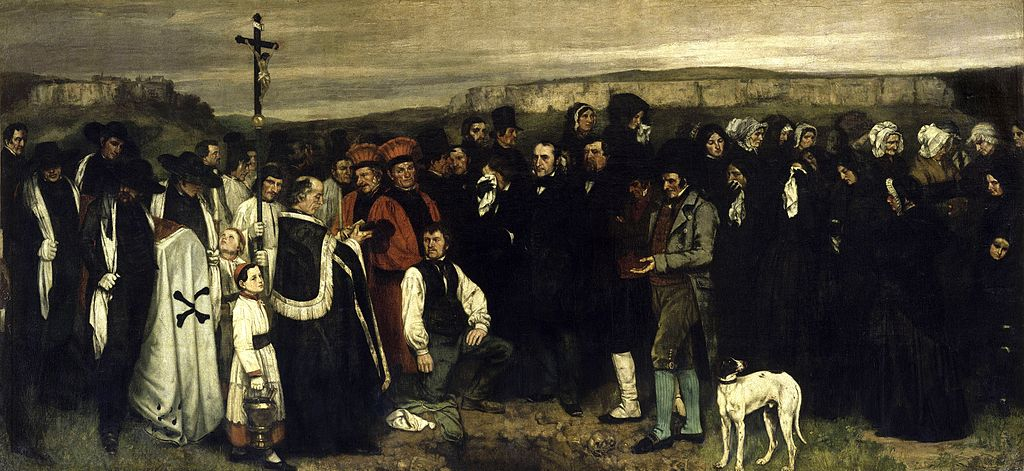 Un enterrement à Ornans, Gustave Courbet, 1849-1850