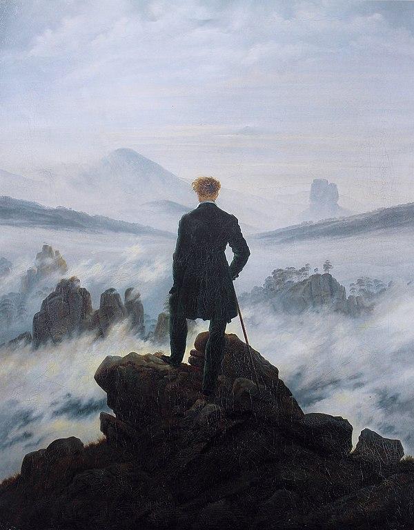 Le Voyageur contemplant une mer de nuages, Caspar David Friedrich romantisme