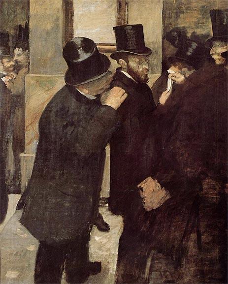 Edgar Degas, À la bourse, 1878-1879, huile sur toile, Musée d'Orsay - Histoire - Terminale - SchoolMouv