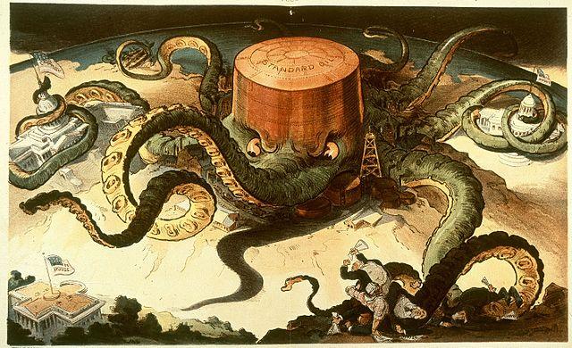 Caricature de la Standard Oil - Histoire - terminale - SchoolMouv