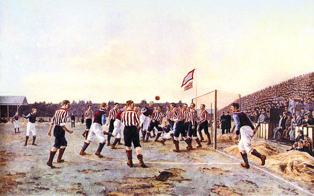 Le match Sunderland contre Astonvilla, peinture de Thomas M.M.Hemy, 1895 - Histoire - SchoolMouv - Terminale