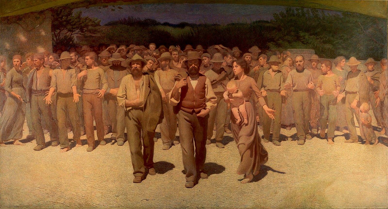 Giuseppe Pelizza da Volpedo, Le quatrième État, 1901 - Histoire - terminale - SchoolMouv
