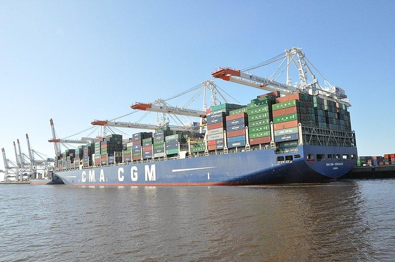 Porte conteneur CMA-CGM au Havre - SchoolMouv - Géographie - Terminale
