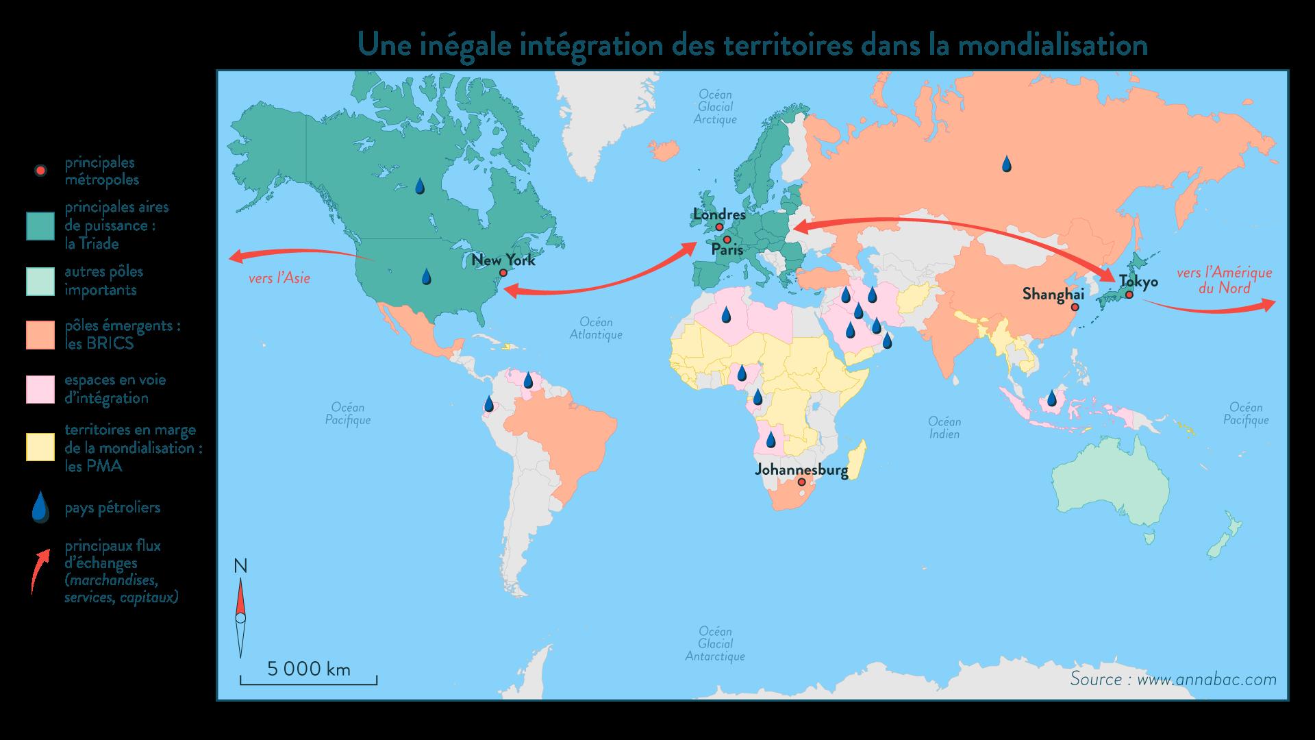 Une inégale intégration des territoires dans la mondialisation