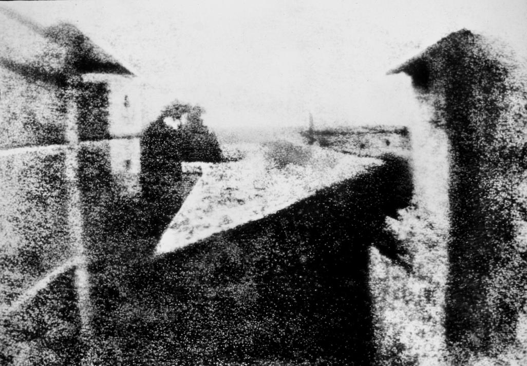 Image numérique Point de vue du Gras, héliographie, Nicéphore Niépce, 1826