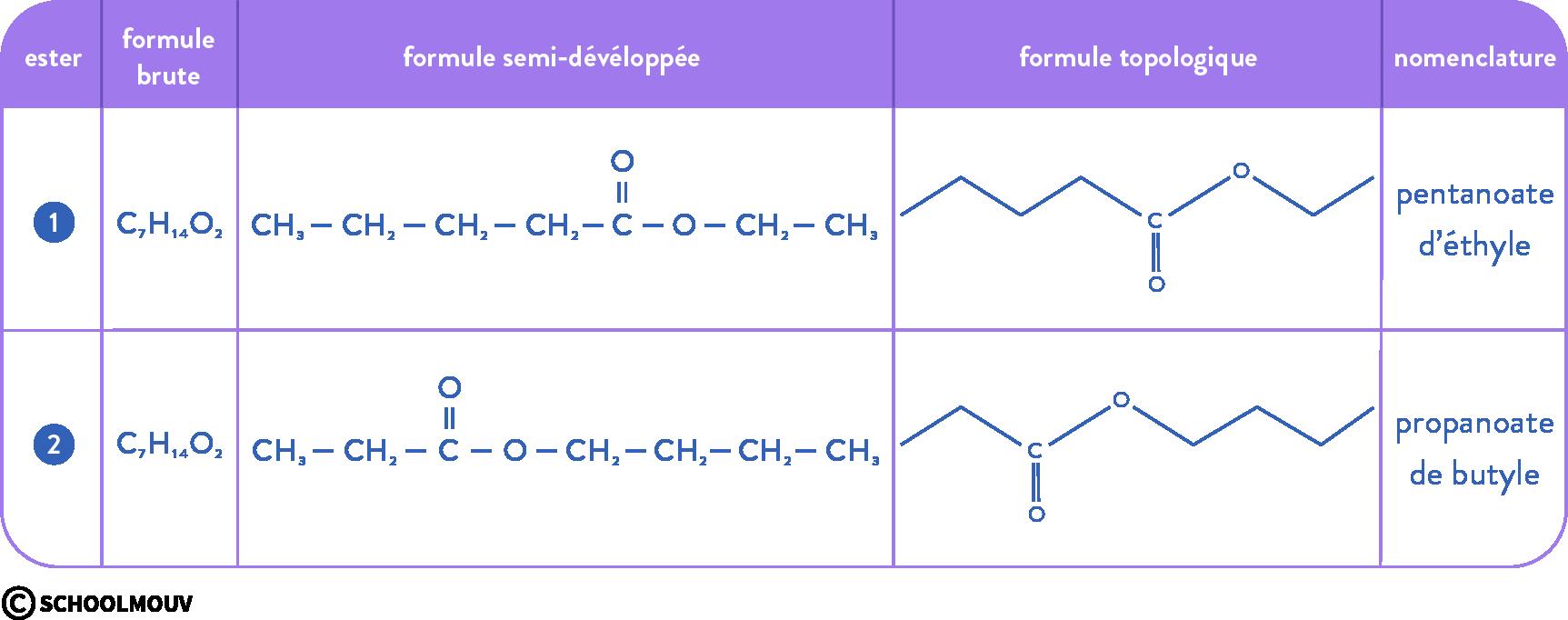 structure des molécules organiques physique chimie terminale isomère