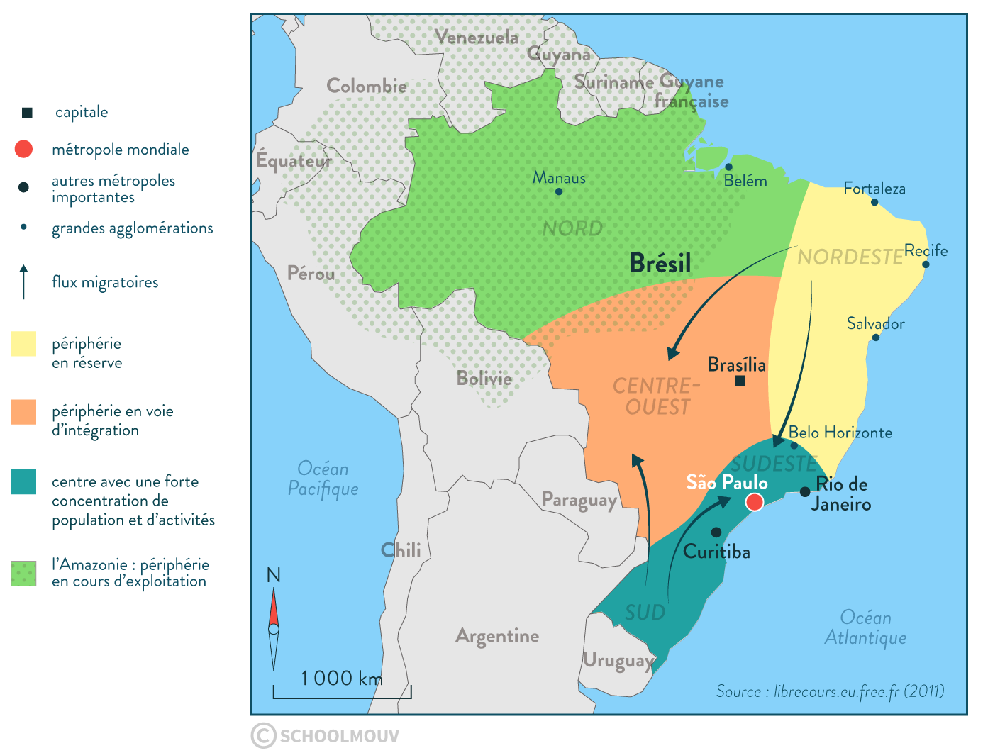 territoire brésilien carte brésil