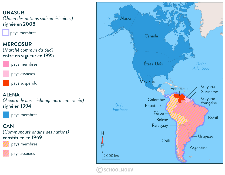 accords continent américain unasur mercosur alena can